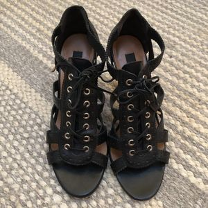 new // Ann Taylor | Black Corset Heels